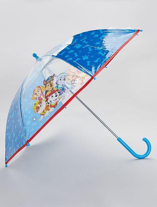 Ombrello trasparente 'Paw Patrol'                             blu