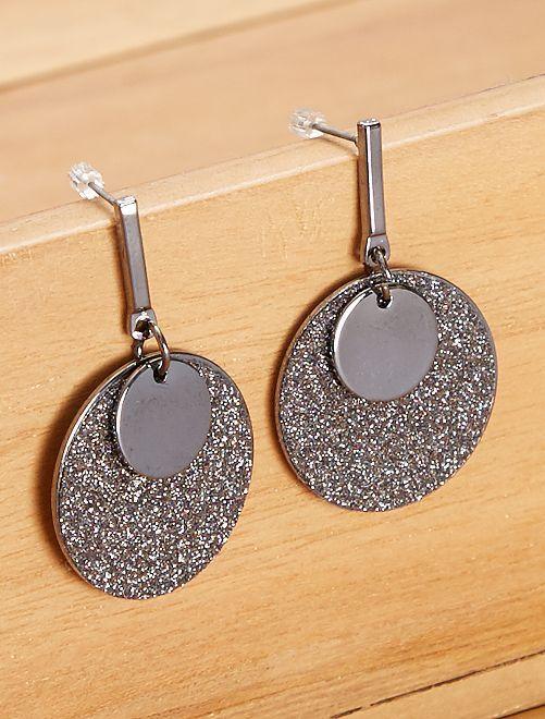 Orecchini pendenti                             nero/argento