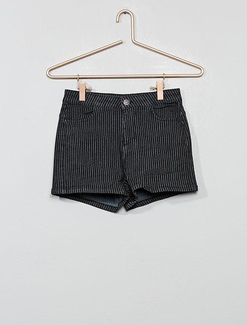Pantaloncini a righe                                                                 NERO