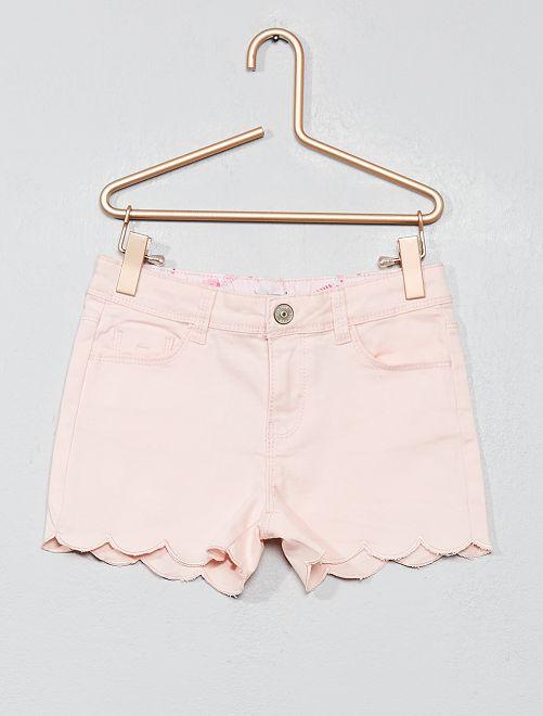 Pantaloncini bordo smerlato                             rosa