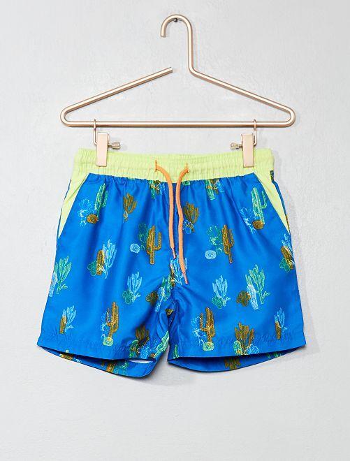 Pantaloncini da bagno 'cactus'                             blu