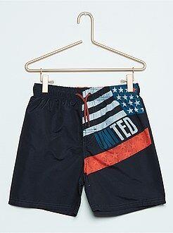 Bambino 10-18 anni Pantaloncini da bagno stampa bandiera