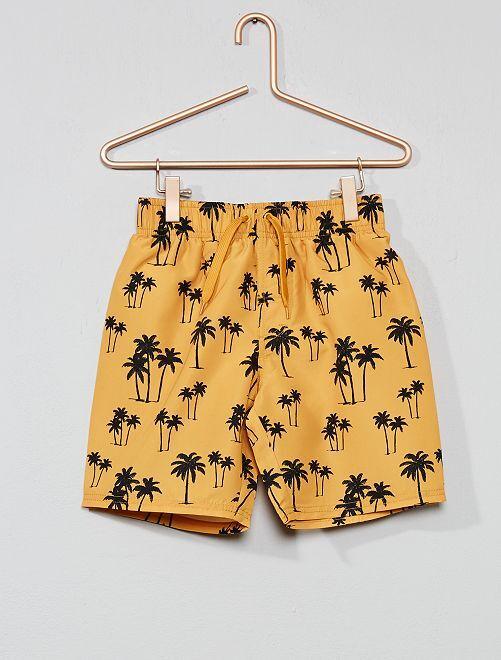 Pantaloncini da bagno stampa palme                     GIALLO Infanzia bambino