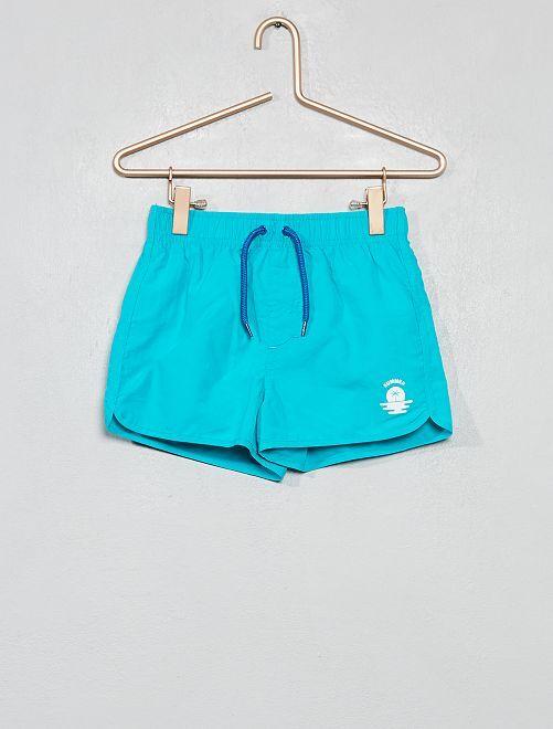 Pantaloncini da bagno stampati                                         BLU