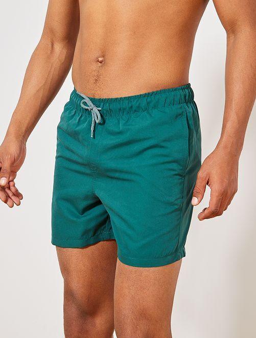Pantaloncini da bagno tinta unita                                                                                         grigio verde Uomo