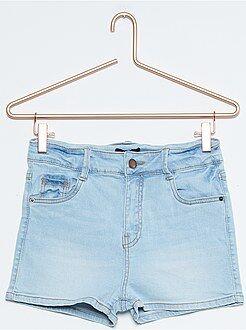 Pantaloncini denim vita alta 5 tasche