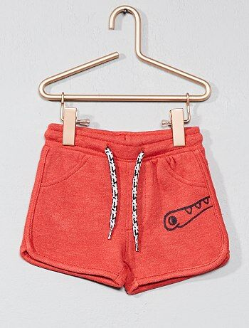 Pantaloncini felpati con applicazione - Kiabi