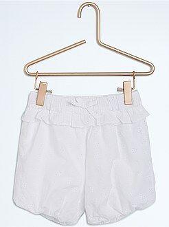 Short, bermuda - Pantaloncini forma bloomer ricamo inglese
