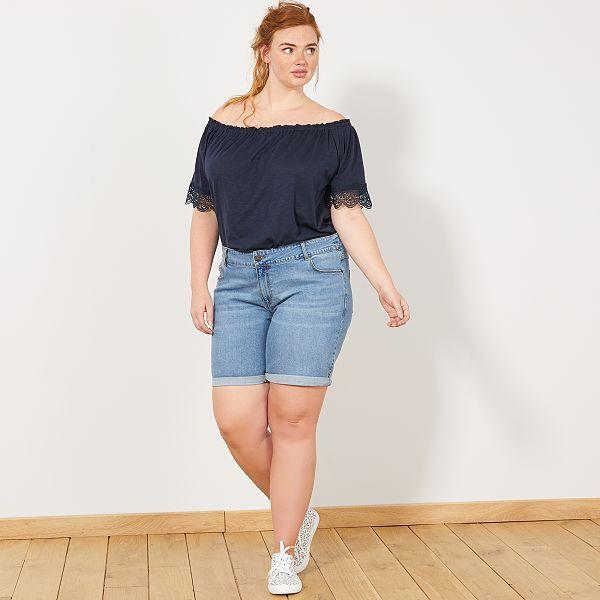 vasta selezione di b9b7b 5ea31 Pantaloncini jeans con risvolto