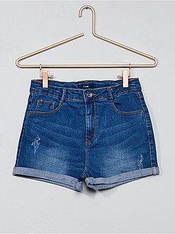 Pantaloncini, capri - Pantaloncini jeans effetto delavé - Kiabi