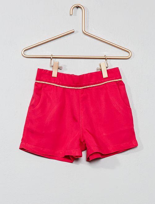 Pantaloncini lyocell tinta unita                     fucsia Infanzia bambina