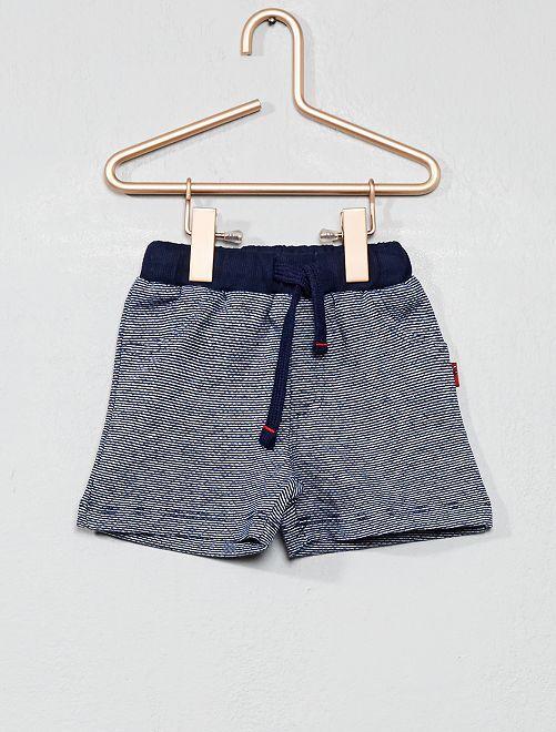 Pantaloncini maglia a righe                             BLU Neonato
