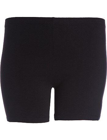 Pantaloncini maglia stretch                     nero Taglie forti donna