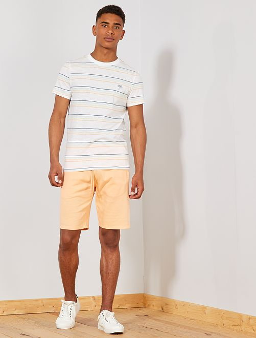 Pantaloncini sport tessuto felpato                                                     ARANCIONE Uomo