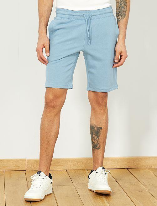 Pantaloncini sport tessuto felpato                                                                                         blu grigio pallido Uomo