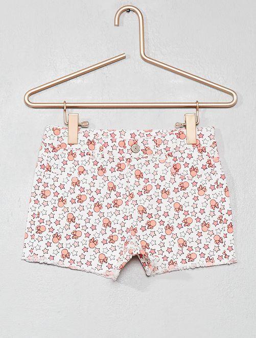 Pantaloncini stampa 'Minnie'                             BIANCO