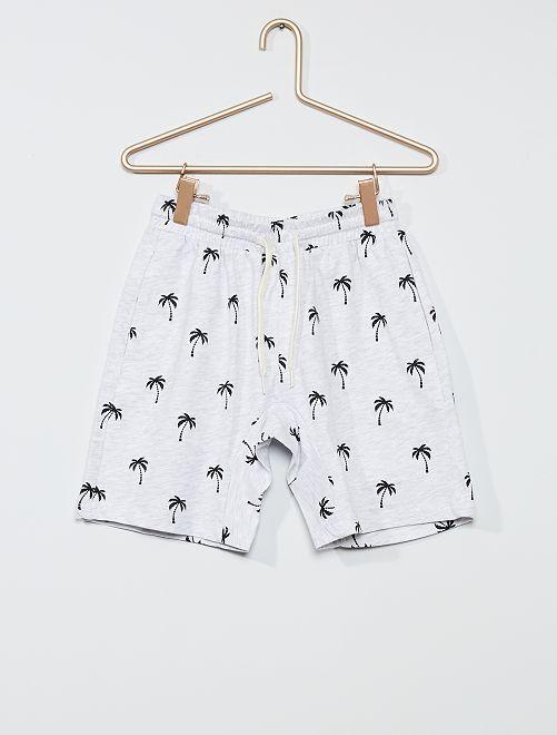 Pantaloncini stampa 'palme'                                                                                                     stampato beige