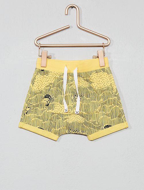 Pantaloncini stampati                                 GIALLO Neonato