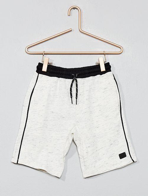 Pantaloncini tessuto felpato leggero                                                     bianco Infanzia bambino