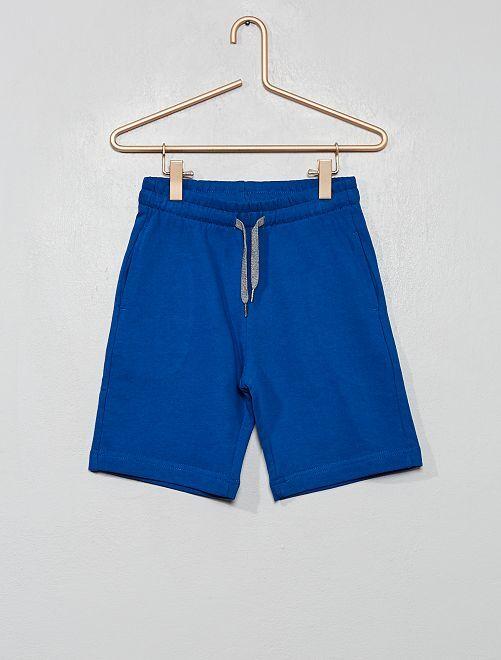 Pantaloncini tessuto felpato leggero                                                                             blu