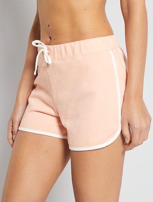 Pantaloncini tessuto felpato                                                                                                     ROSA