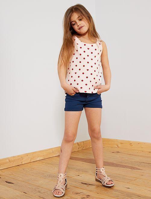 Pantaloncini tinta unita                                                                 blu Infanzia bambina