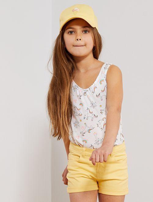 Pantaloncini tinta unita                                                                             giallo Infanzia bambina
