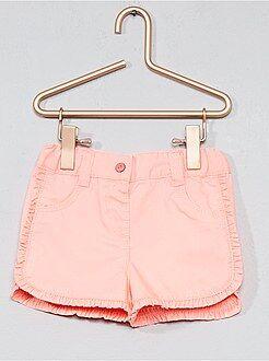 Short, bermuda - Pantaloncini twill bordi con volant - Kiabi
