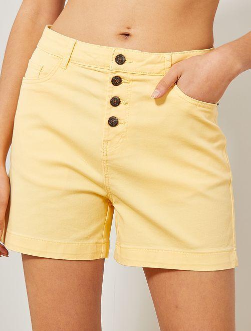 Pantaloncini twill                                                                                                                 giallo pallido Donna