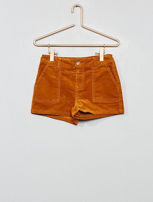 Pantaloncini velluto a coste                                                     GIALLO