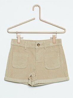 Pinocchietti, pantaloncini - Pantaloncini velluto vita alta