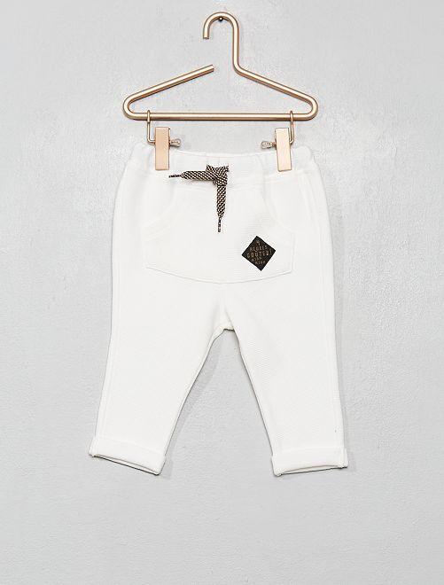 Pantalone in maglia                                         bianco neve