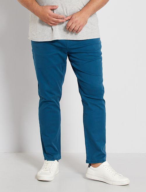Pantaloni 5 tasche fitted L34                                 blu