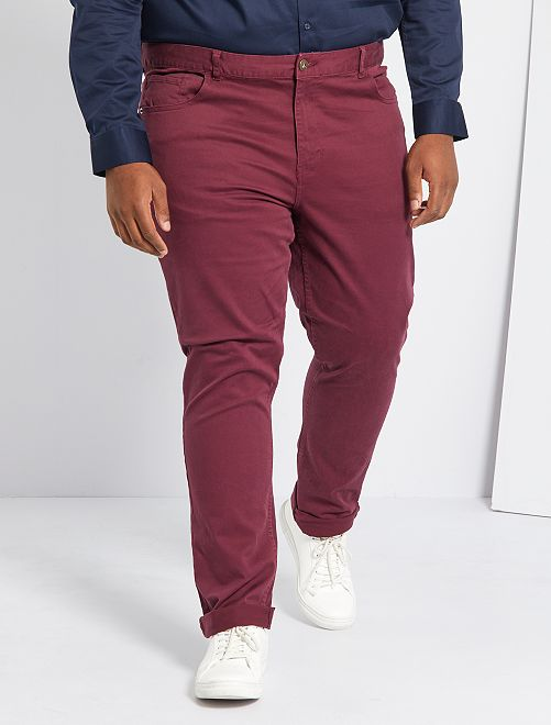 Pantaloni 5 tasche fitted L34                                                     rosso