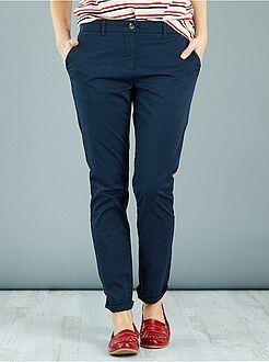 Pantaloni con stampa, colorati - Pantaloni 7/8 twill