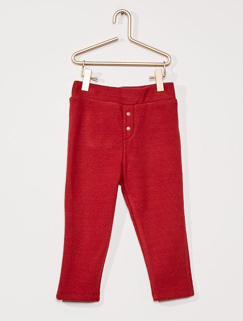 Pantaloni a coste foderati                                                     ROSSO