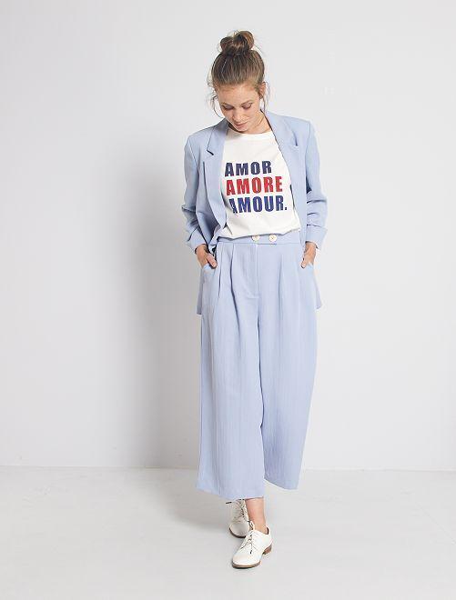 Pantaloni a pinocchietto larghi                                                                 blu