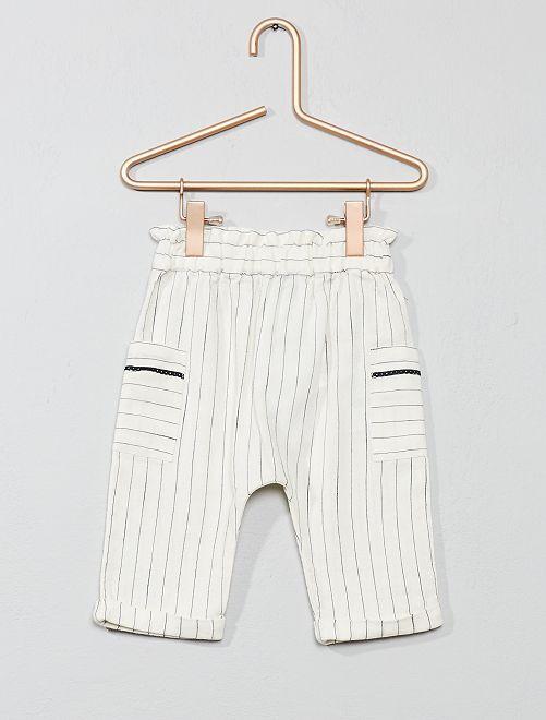 Pantaloni a righe                             BEIGE Neonata