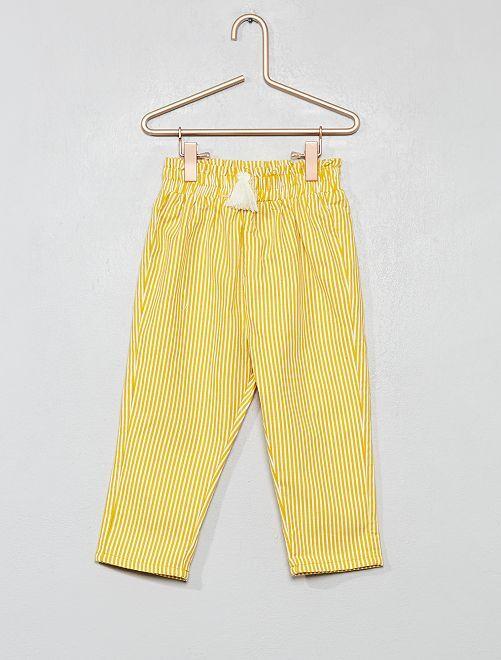 Pantaloni a righe                                         GIALLO Neonata