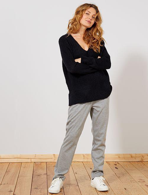 Pantaloni a righe                                         grigio chiaro Donna