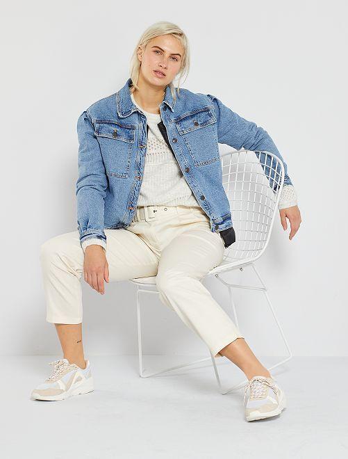 Pantaloni a vita alta                                         BIANCO