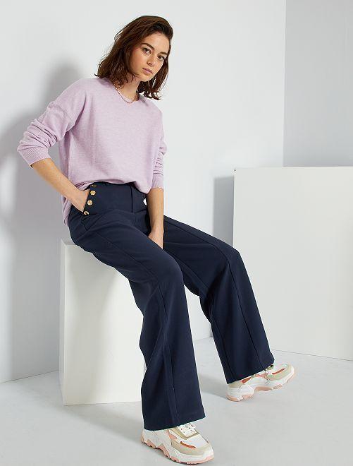 Pantaloni a vita alta                             blu