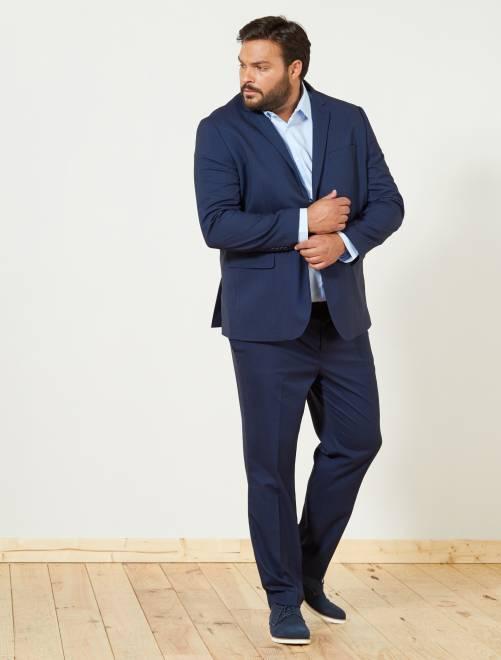 Pantaloni abito caviale regular                             BLU