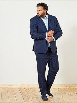 Taglie forti Uomo - Pantaloni abito caviale regular - Kiabi