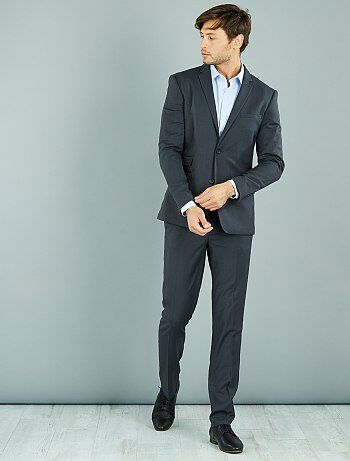 Pantaloni abito caviale stretch slim - Kiabi