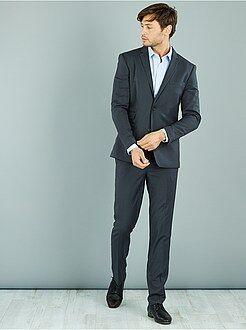 Pantaloni d'abito - Pantaloni abito caviale stretch slim