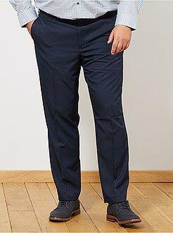 Taglie forti Uomo - Pantaloni abito comfort tinta unita - Kiabi