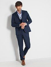 Pantaloni abito in twill taglio aderente