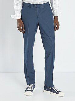 Pantaloni slim - Pantaloni abito in twill taglio aderente