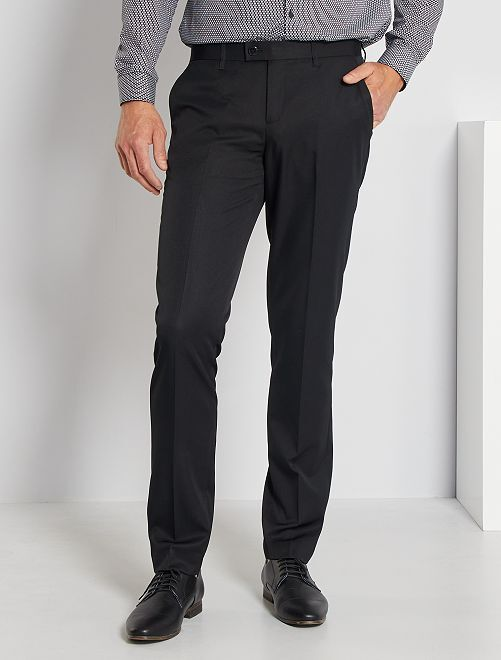 Pantaloni abito in twill taglio aderente                                         nero